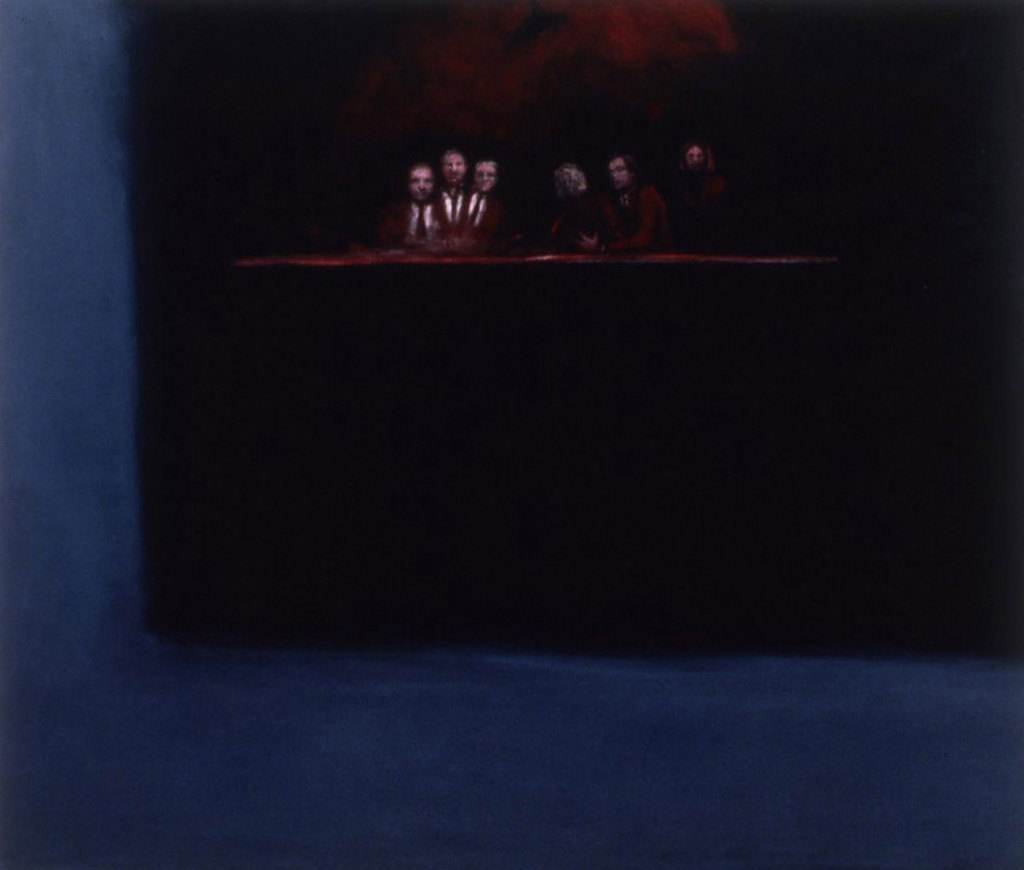 A. M. HOCH, Coup, oil on canvas, 62 x 72 inches, 1991