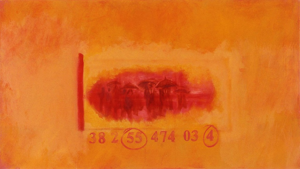 A. M. HOCH, Lucky Day, oil on canvas, 25 x 44 inches, 1993