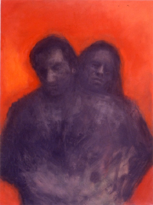 A. M. HOCH, Couple #1, oil on canvas, 48 x 36 inches, 2001