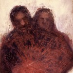 A. M. HOCH, Couple #3, oil on canvas with resin, 48 x 36 inches, 2001