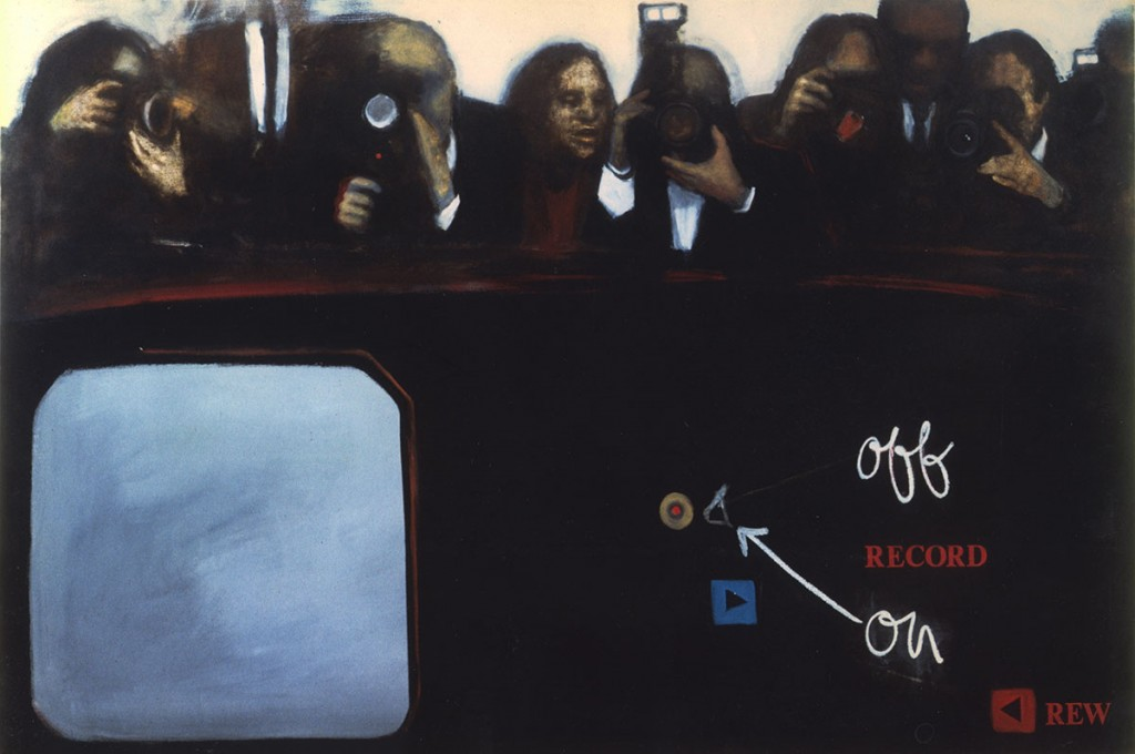 A. M. HOCH, On/Off/Record, oil on canvas, 56 x 84 inches, 1992
