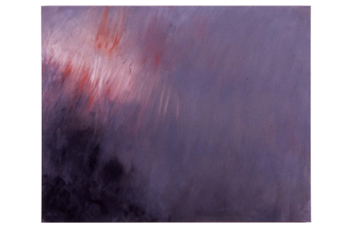 A. M. HOCH, (exhibited on adjacent wall in entry): September 11 (small), oil on canvas, 48 x 60 inches, 2001