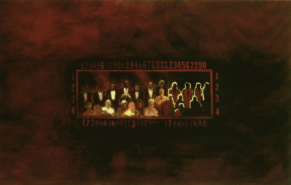 A. M. HOCH, Aftermath, oil on canvas, 56 x 90 inches, 1992