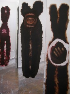 A. M. HOCH, Self-portrait (in-progress), installation with paintings on mirrors, began 2005