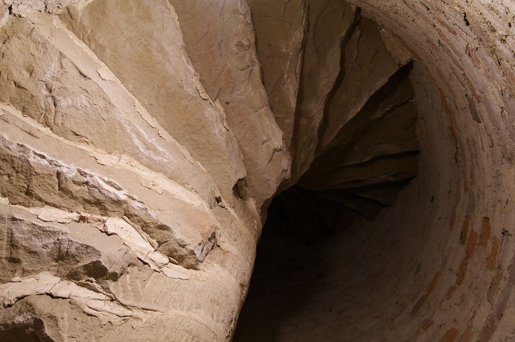 Rocca Sforzesca (Castle Tower), winding staircase