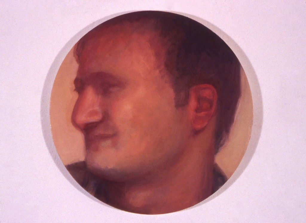 A. M. HOCH, Portrait of David, oil on canvas, 10 inches in diameter, 1999