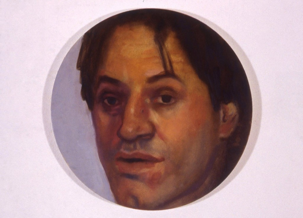 A. M. HOCH, Portrait of Piergiorgio, oil on canvas, 10 inches in diameter, 1999
