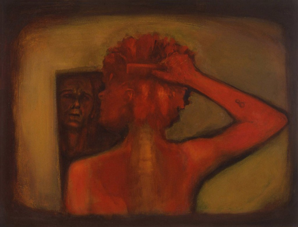 A. M. HOCH, Portrait of Kate, oil on canvas, 32.5 x 42 inches, 1993