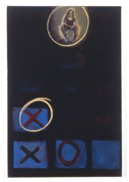 A. M. HOCH, Self-portrait as a Game Show Contestant, oil on canvas, 36 x 24 inches, 1992