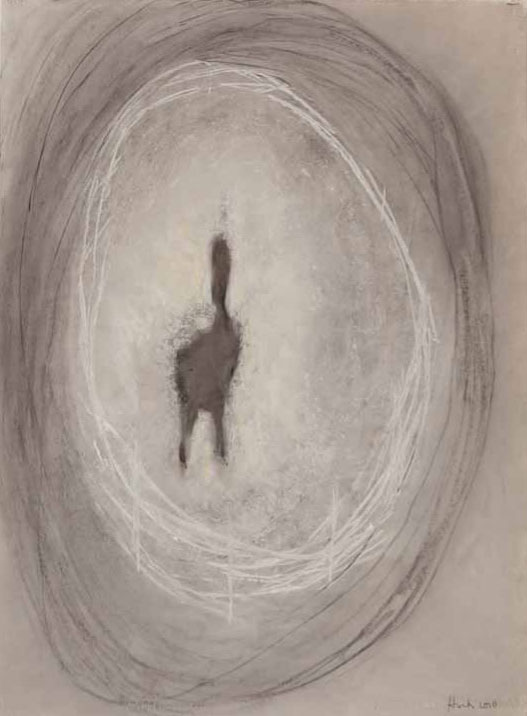 A. M. HOCH, Unicum, charcoal and pastel on paper, 35 x 26 inches (approximately), 2012