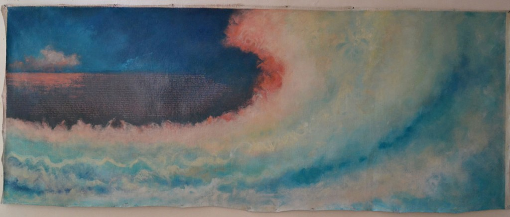 A. M. HOCH, Sea of Love, oil on canvas, 79 x 205 cm (31 x 80.7 inches), 2004